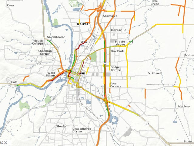 Solar Eclipse 2017 Highway Traffic Map.Salem Oregon Traffic Update After The Total Solar Eclipse
