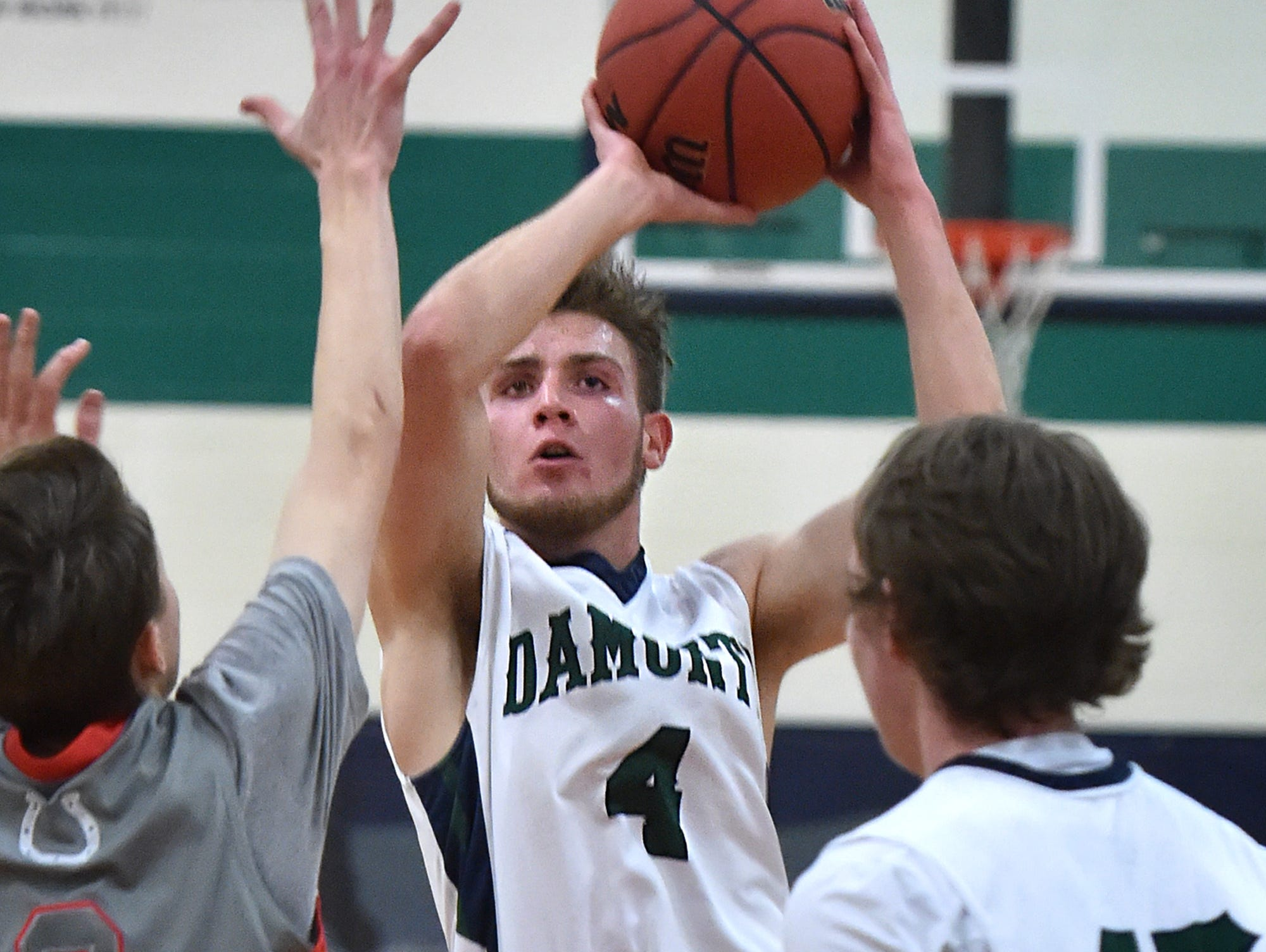Damonte Ranch's Brett Coopper shoots against Wooster at Damonte Ranch on Tuesday.