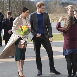Meghan Markle's dreamy Jimmy Choos and Mackage coat stole the show in Northern Ireland