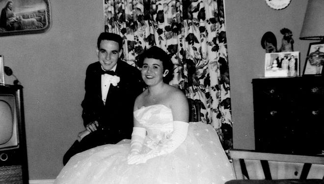 The author's parents around 1960 while they were dating.