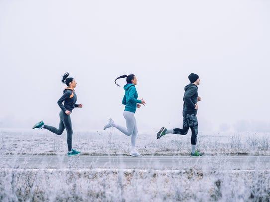 Dress properly for winter running.