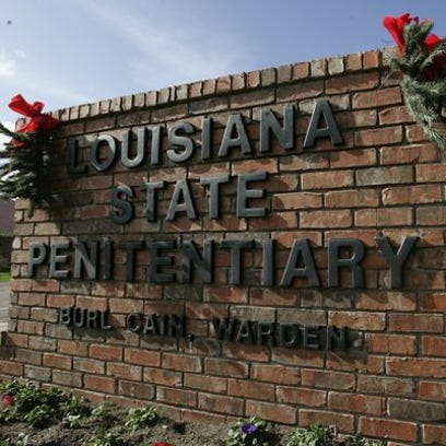 The entrance sign of the Louisiana State Penitentiary