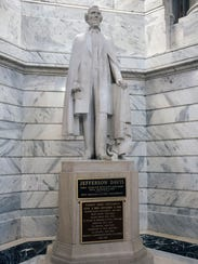 The Jefferson Davis statue in the Kentucky State Capitol