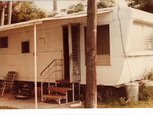 The Palm Bay trailer where 55-year-old Helen Nardi was stabbed to death in 1983.