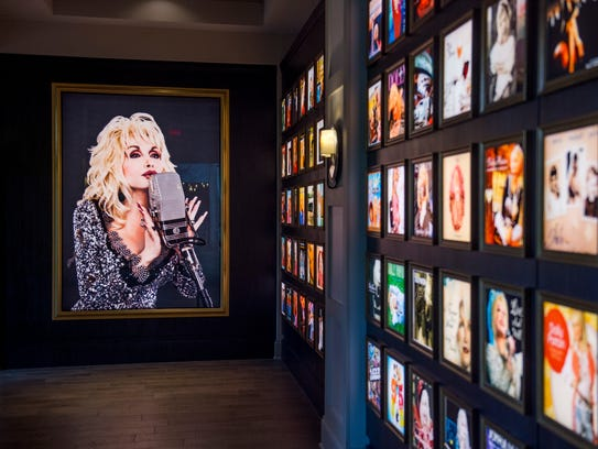A large photo of Dolly Parton as well as every Parton