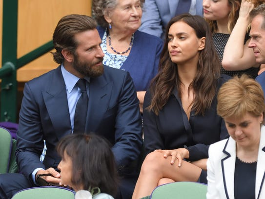 Cooper and Shayk, seen here at Wimbledon in July, have