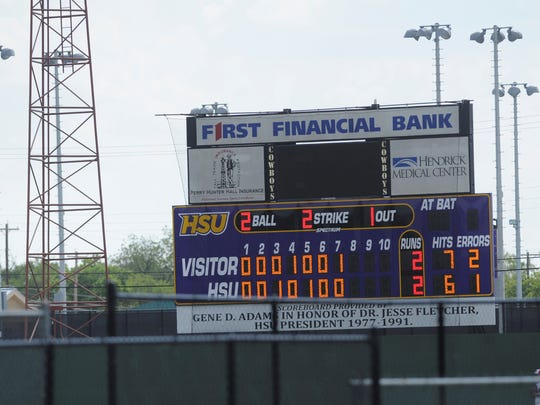 Hardin-Simmons' Hunter Field got a new scoreboard this offseason. The new baseball scoreboard is dedicated to former HSU president Dr. Jesse Fletcher who was instrumental in the building of Hunter Field.