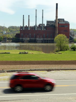 The Beckjord Power Plant, seen here from across the Ohio River in Melbourne.