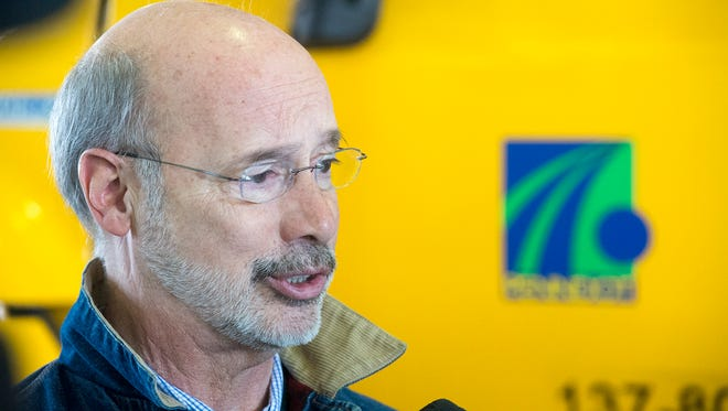 Governor Tom Wolf visits PennDOT in Manchester Township Monday January 25, 2016 to thank workers for snow storm work.