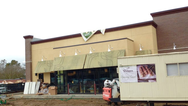 Lafayette's first Panera Bread might have to push back its opening due to rainy weather.