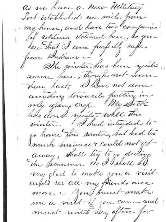 Joseph Mason's April 1865 letter from Camp Collins