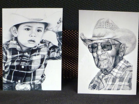 The young and old are captured in portraits.