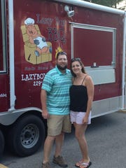 Pitmaster Tommy Pippin and his wife Sherrie, who is general manager.