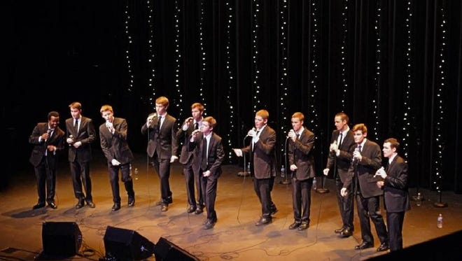 Another Round features men's a cappella singers from Indiana University Bloomington.