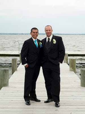 Lorenzo Moreno, the 31-year-old Franklin Township man stuck by two vehicles in January, was the best man at Dustin Cresswell's wedding.