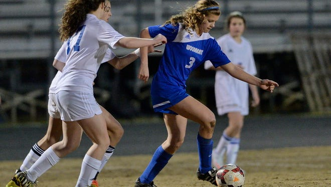 Hannah Nix (3), who leads Woodmont with 14 goals, is one of three freshmen among the Wildcats' top goal scorers this season.