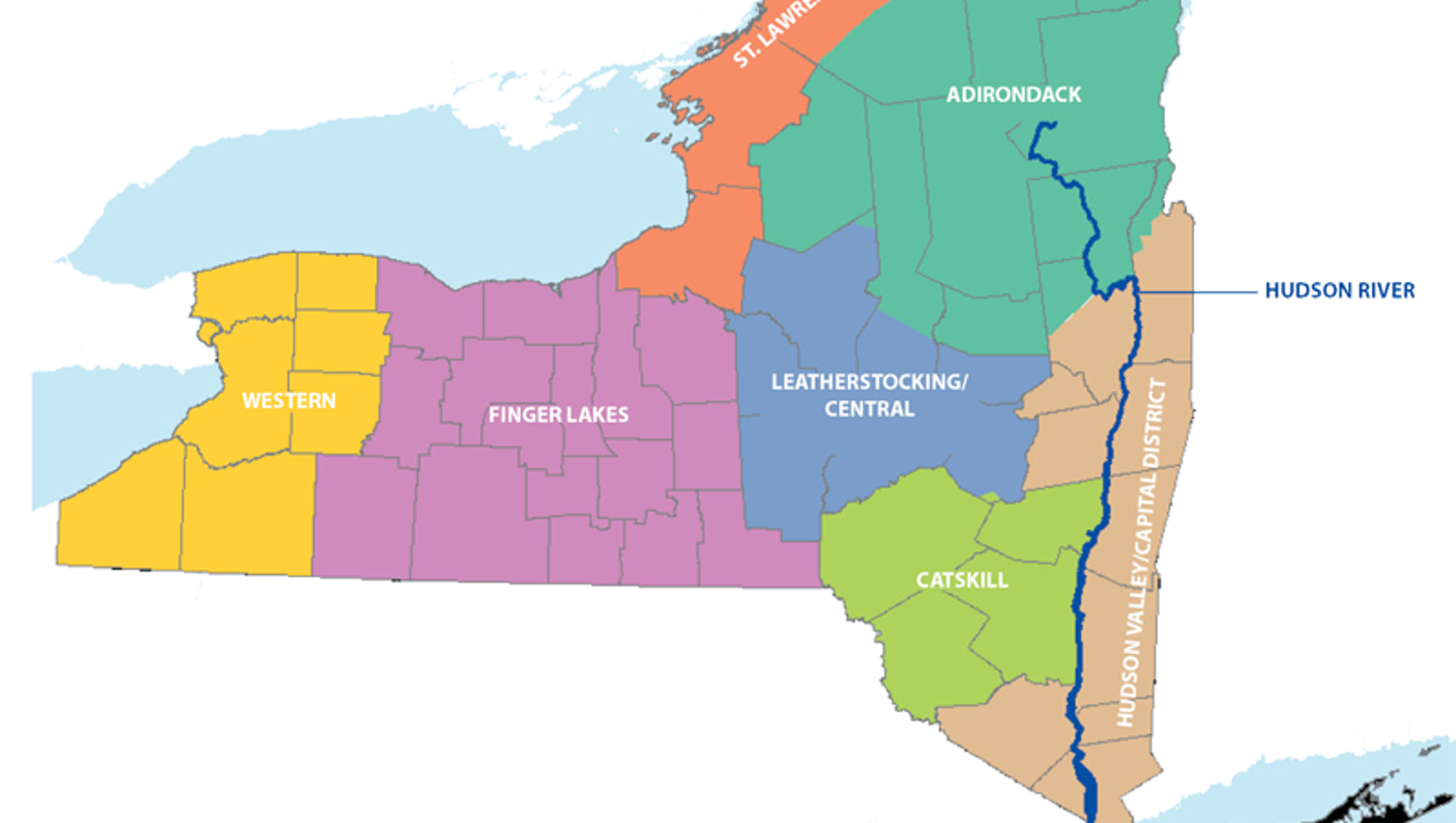 Create Color Coded Us Map.Upstate New York Begins Here 11 Maps That Will Make You Mad