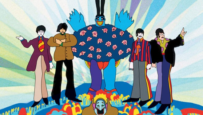 """The four member of The Beatles were more than happy for animation after the movie """"Help!"""" (1965), which they did not like."""