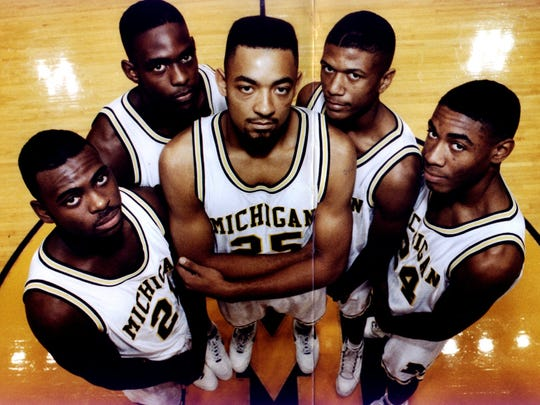 (From left) Ray Jackson, Chris Webber, Juwan Howard, Jalen Rose and Jimmy King will forever be known as the Fab Five.