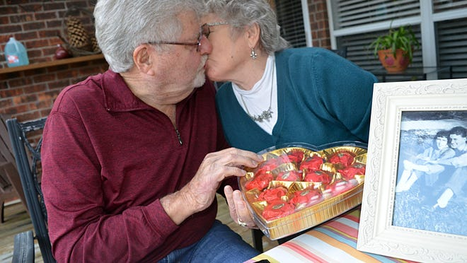 Wayne and Shirley Cox of Pearl have been Valentines for more than 64 years and from the first time they celebrated the holiday together, a heart-shaped box of candy was involved .