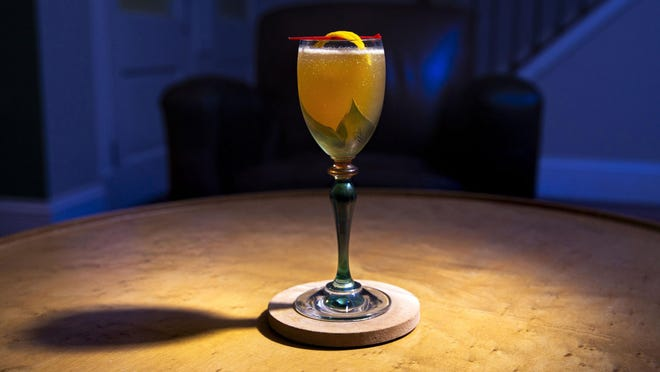 A Sidecar is made with cognac mixed with Cointreau or Grand Marnier.