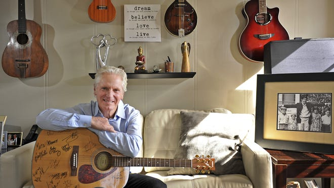 Billy Block, a powerful asset for Nashville's roots music community, relaxes at his Nashville home Feb. 1, 2014.