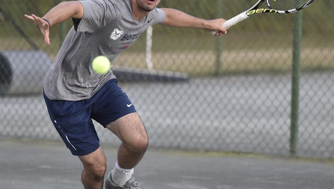 Will five-time men's singles champ Mason Dragos take the PTS Challenge during the two-week run of the 84th News Journal Tennis Tournament?