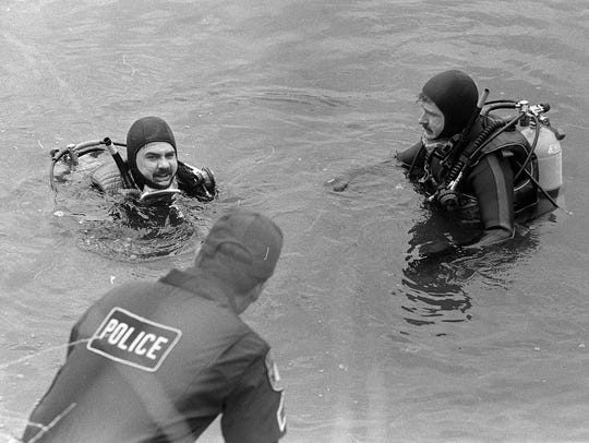 Police divers search for the body of Rose Larner in