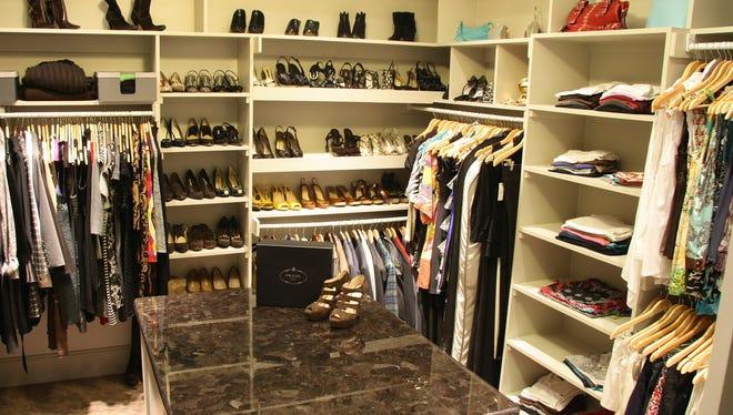 "Organized ""hers"" closet"