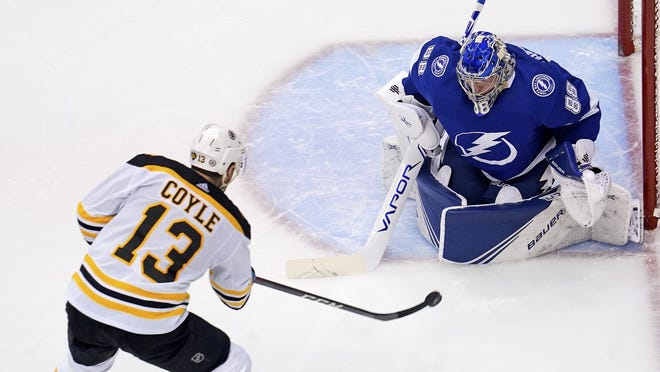 """""""We have to regroup, and focus on one game at a time,"""" Bruins center Charlie Coyle said. """"People have been in worse situations, and come out on top."""""""