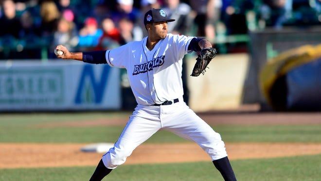 Jessen Therrien, Relief Pitcher,  April 11, 2015,  Lakewood BlueClaws, Philadelphia Phillies v Kannapolis Intimadators, White sox, FirstEnergy Park, Lakewood, NJ
