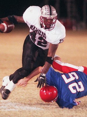 Terrell Suggs is not only the greatest player in Hamilton High history but maybe among the top five to 10 players in state history.