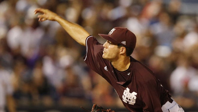 Mississippi State pitcher Dakota Hudson was selected in the first round of Thursday's MLB Draft.