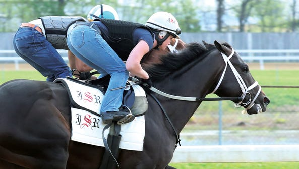 Girvin works at the Churchill Downs Trackside training
