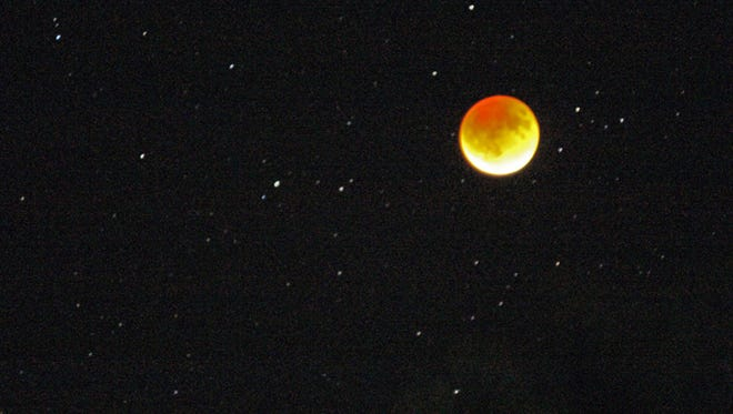 Sunday night's eclipse of the moon.