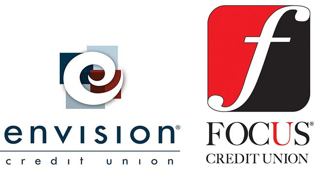 Logos for Envision and FOCUS credit unions.