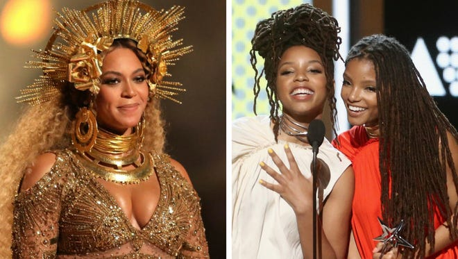 Beyonce couldn't attend Sunday's BET Awards, so she delivered her speech via Chloe x Halle.
