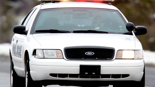 A police car on an emergency run on March 7, 2013.