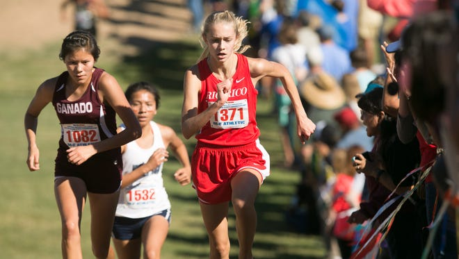 Rio Rico's Samantha Schadler, seen last year, defended her state title with a dominant performance with a time of 18:01.