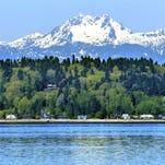 Bainbridge Island Puget Sound Mount Olympus Snow Mountain Washington State