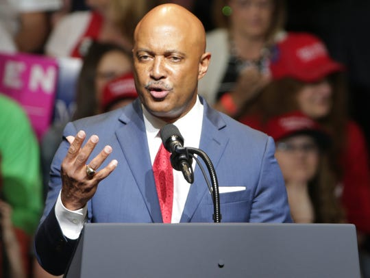 Curtis Hill, Indiana's Attorney General, warms up the