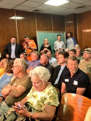 It was standing-room only at the City County-Council's