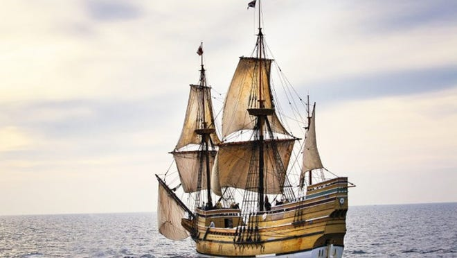 The Mayflower II is a replica of the ship the Pilgrims sailed on.