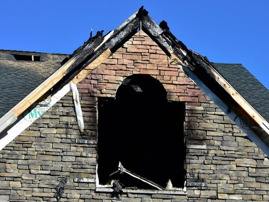Fire damaged a house at 2312 Bodie Island Drive, Greene