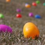 Thousands of Easter eggs fill the lawn at the Law Memorial Park in Briarcliff Manor in anticipation of the Easter Egg hunt in 2013.