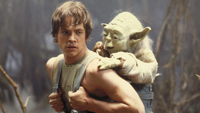 Luke Skywalker, Jedi or jihadist, is shown here either being indoctrinated into an extremist vision of the Force or giving a bald Yorkshire terrier a piggyback ride.