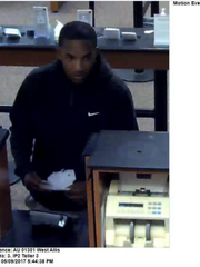 Devontae Amos wanted for armed bank robberies