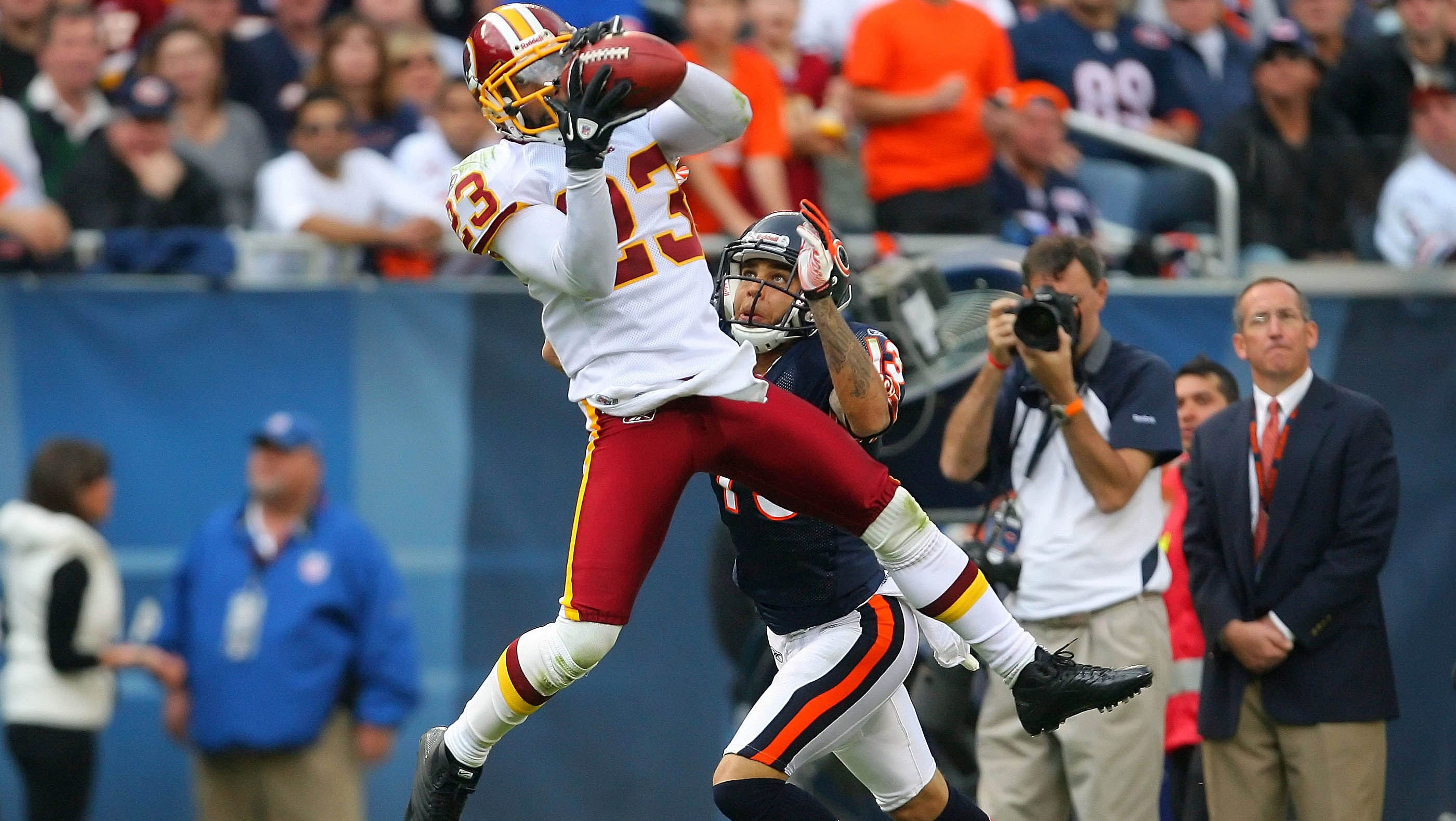 """Image result for Deangelo Hall On His Four Interceptions Of Jay Cutler: """"He Wanted To Keep Trying So I Had To Make Him Pay For It."""""""""""