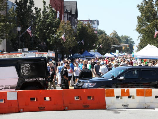 Additional security was provided at the Rutherford Labor Day Street Festival on Sept. 4. The fair is believed to be the oldest and largest street fair in New Jersey.