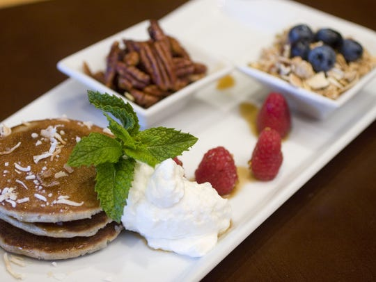 Blue Corn Pancakes with Coconut and nuts from The Westin